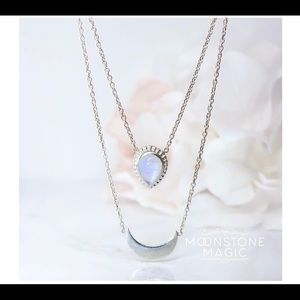 Gorgeous Moonstone Layering Necklace❤️